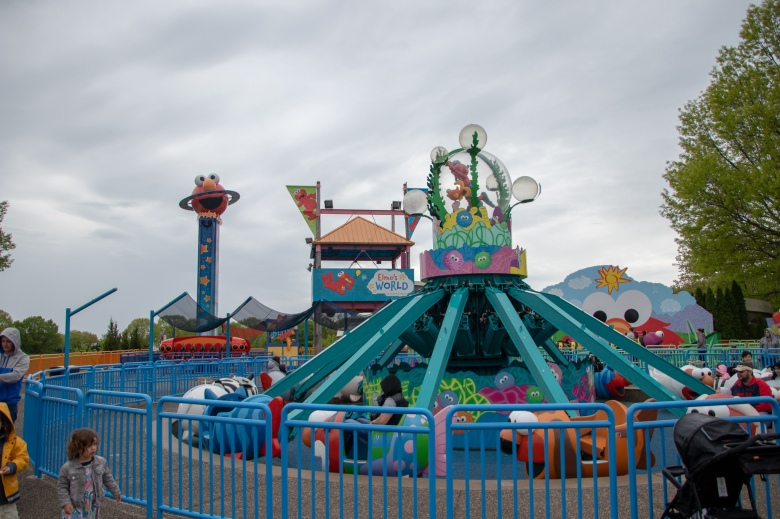Sesame Place, flyin' fish, rides, elmo's world