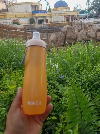 Brita refillable Water Bottle, theme park water bottle