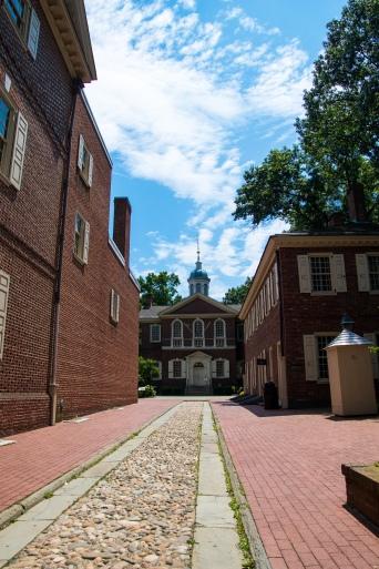 cobblestone walkway, Carpenter's hall, old city, revolutionary, 1776, Freedom, Independence