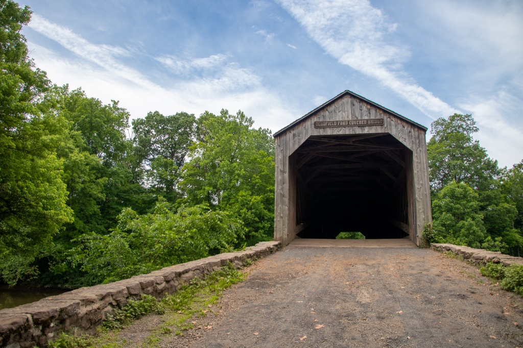 covered bridge, tyler state park, old, wooden, path