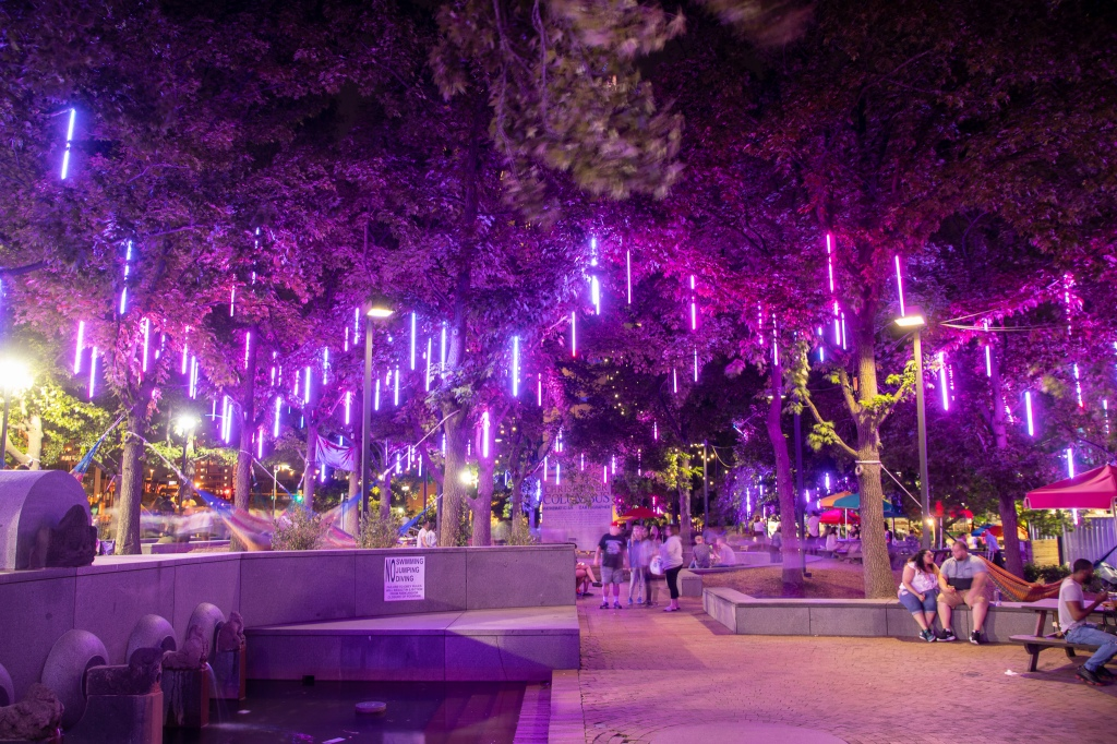 Spruce Street Harbor Park, SSHP, Philadelphia, Philly, Lights