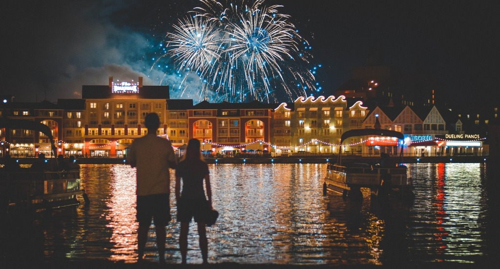 Disney World, Boardwalk, EPCOT, Fireworks