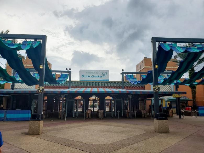 Busch Gardens Tampa Theme Park entrance