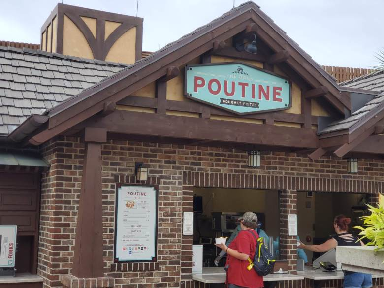 Disney springs, quick service, walt disney world, WDW, ddp, disney dining plan, poutine, The Daily Poutine, frites