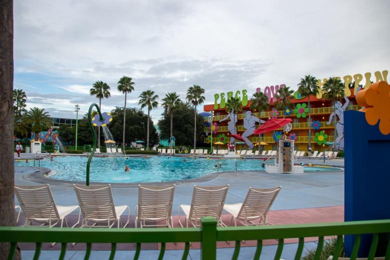 POP Century, value resort, skyliner, Disney Vacation, Walt Disney World, WDW, Theme Park, Orlando, Florida, Resort, pool