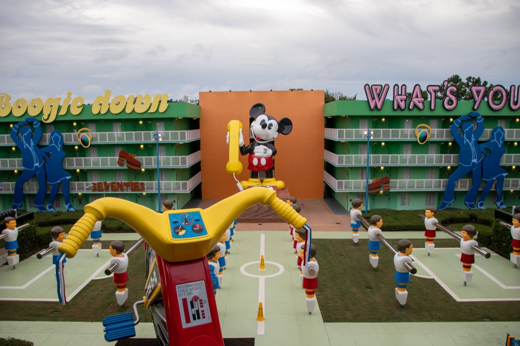 70s Building, Mickey Mouse, POP Century, POP, WDW, Disney World, Resort, Hotel, Value Resort,