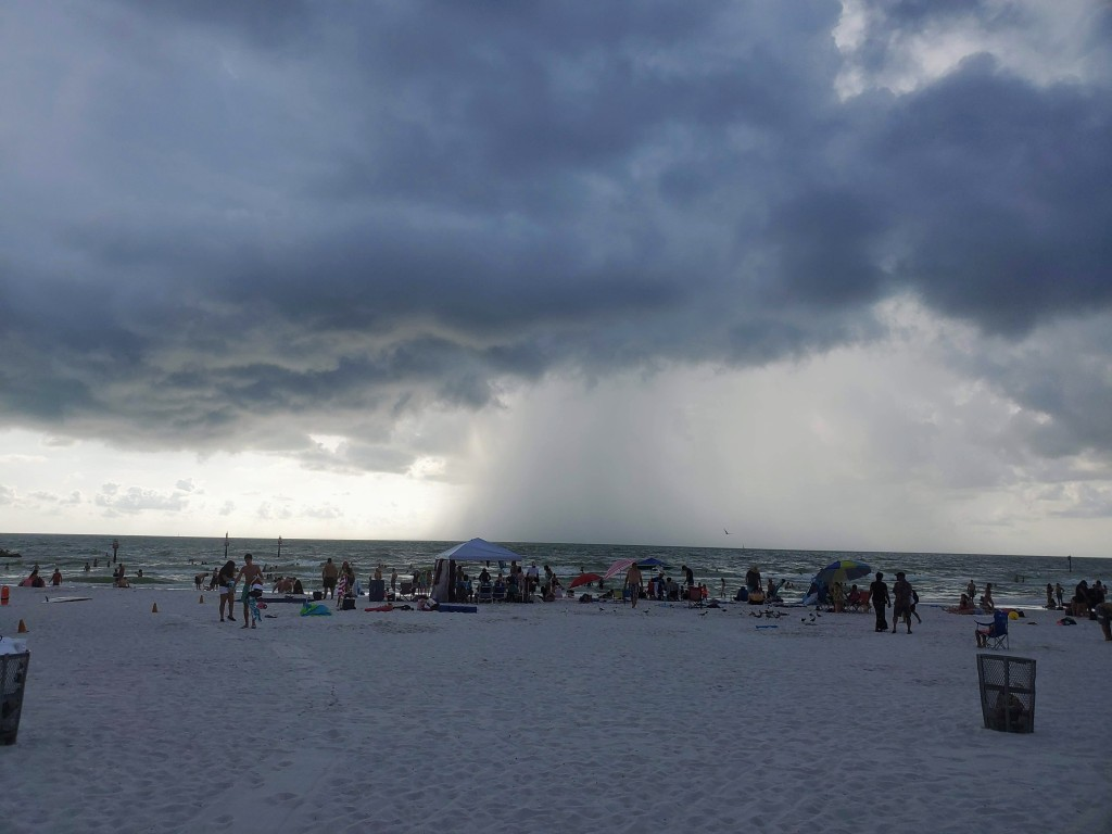 white sand beach on Clearwater
