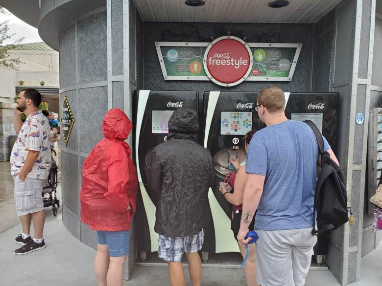 Coke Freestyle machine at Universal Studios Orlando