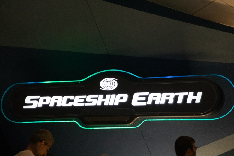 Spaceship Earth Sign at EPCOT in Walt Disney World