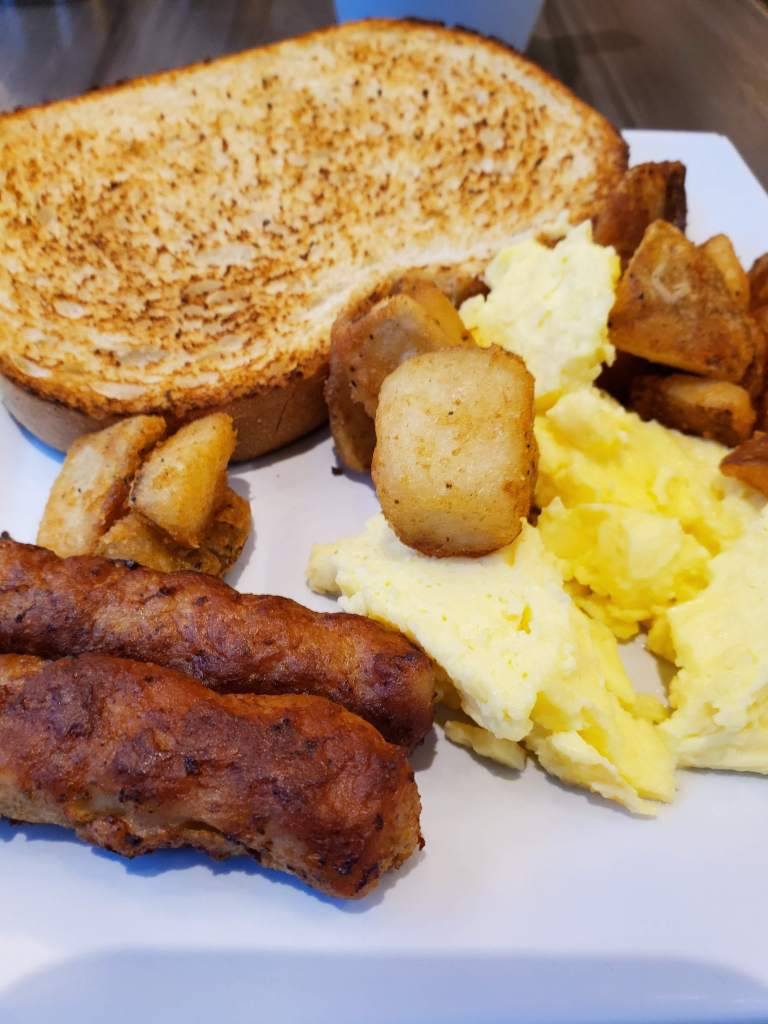 Hyatt Place, Washington DC, DC, Hotel, Resort, free breakfast, eggs, potatoes, toast, sausage,