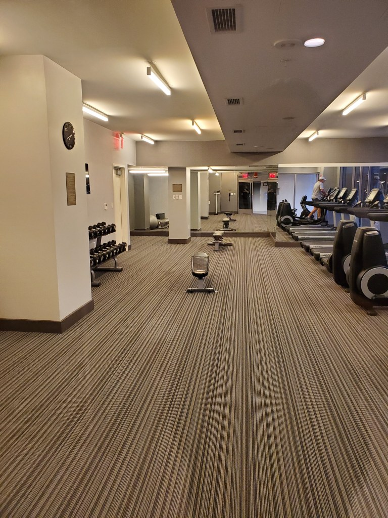 Hyatt Place, Washington DC, DC, Hotel, Resort, gym, treadmill, weights, workout,