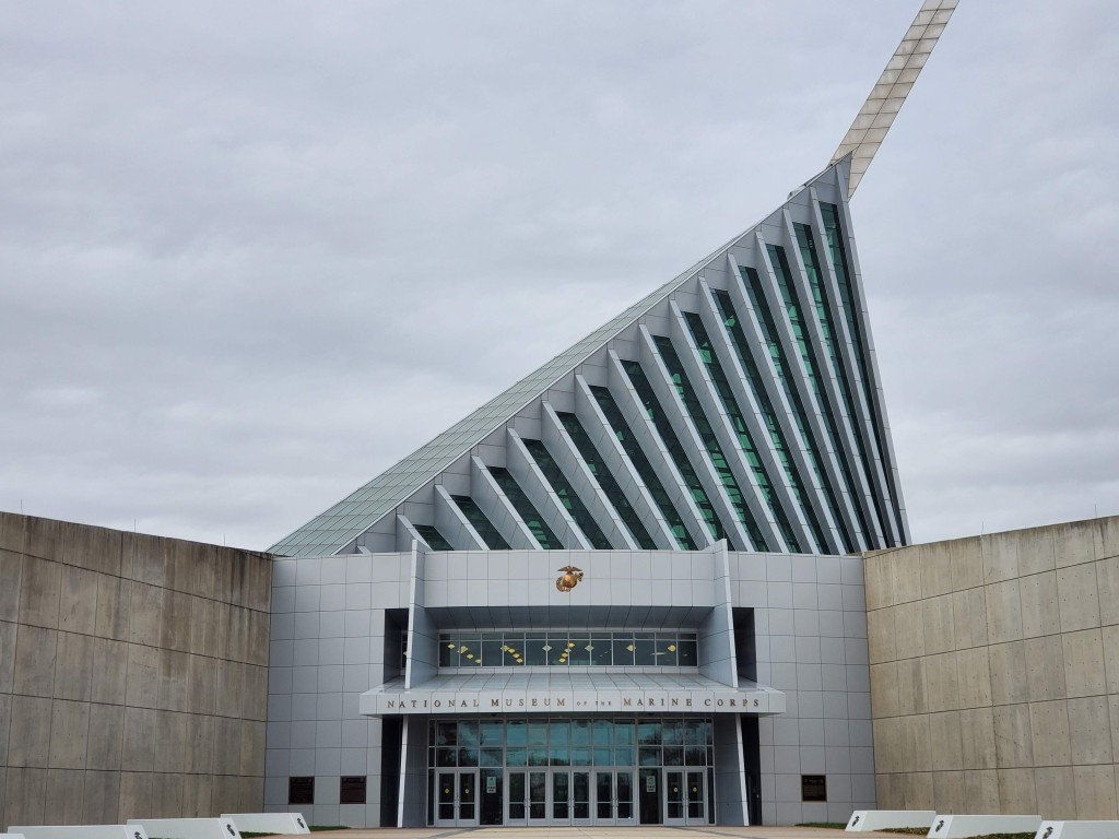 USMC, National Museum of the Marine Corps, United States Marines, Devil Dogs, Leathernecks, Jarheads, Quantico VA, Front entrance,