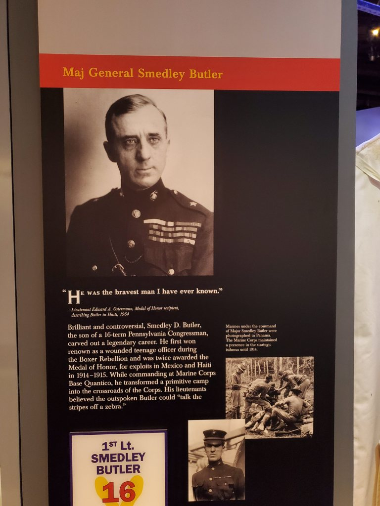 Major General Smedley Butler, USMC, National Museum of the Marine Corps, United States Marines, Devil Dogs, Leathernecks, Jarheads, Quantico VA,