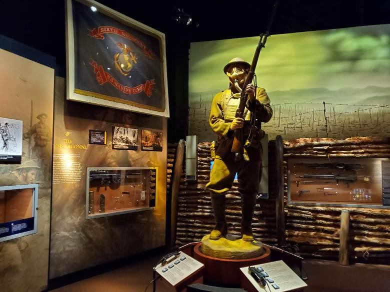 Gas Mask, MOPP Gear, USMC, National Museum of the Marine Corps, United States Marines, Devil Dogs, Leathernecks, Jarheads, Quantico VA,