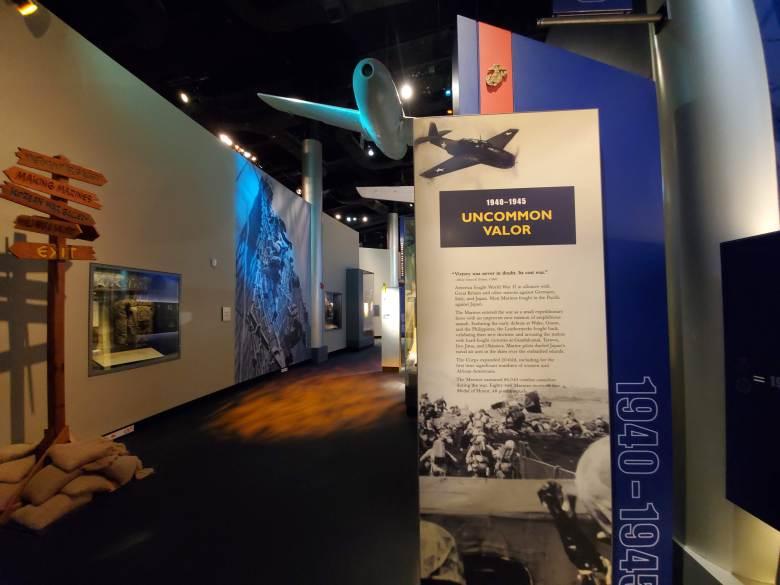 Uncommon Valor, WWII, USMC, National Museum of the Marine Corps, United States Marines, Devil Dogs, Leathernecks, Jarheads, Quantico VA,