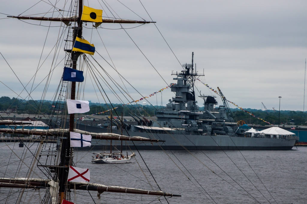 Battleship New Jersey on the Delaware River in Camden NJ