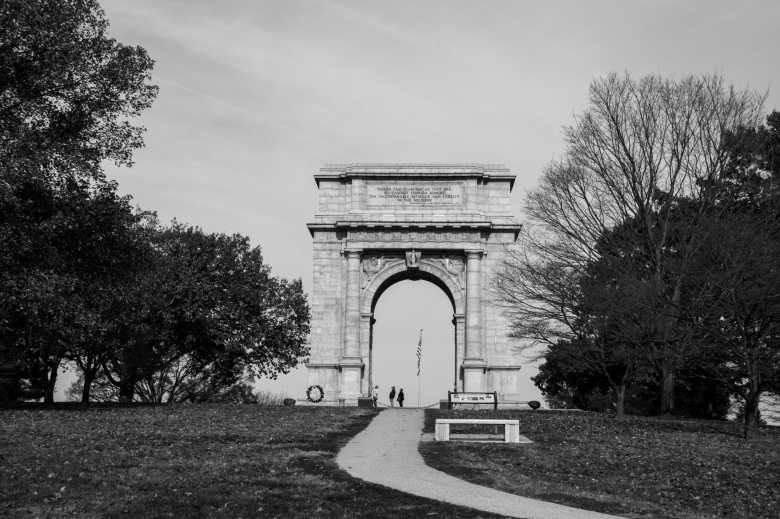 Famous arch at Valley Forge National Historical Park.