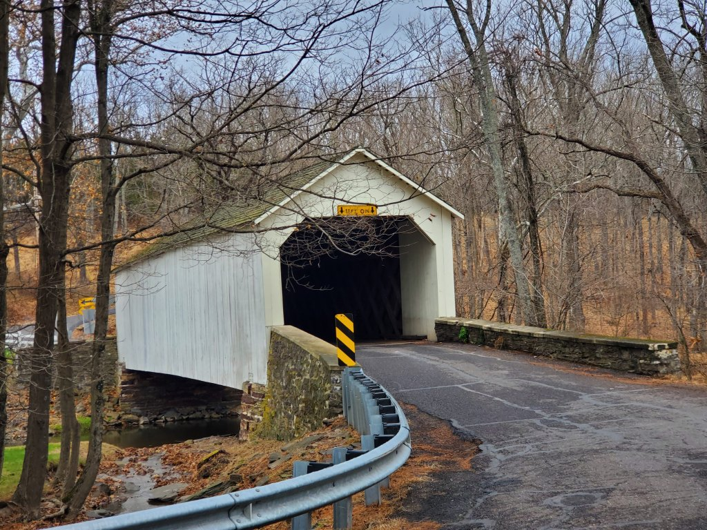 Covered Bridge, Pennsylvania, PA, Bucks County, East Coast USA, America, Travel, United States, Holiday, Vacation,