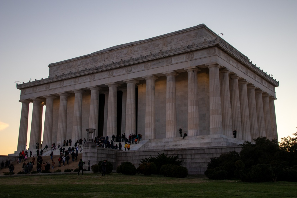 Lincoln Memorial, Sunset, Washington DC, Capital, USA, America, Travel, Vacation, road trip,