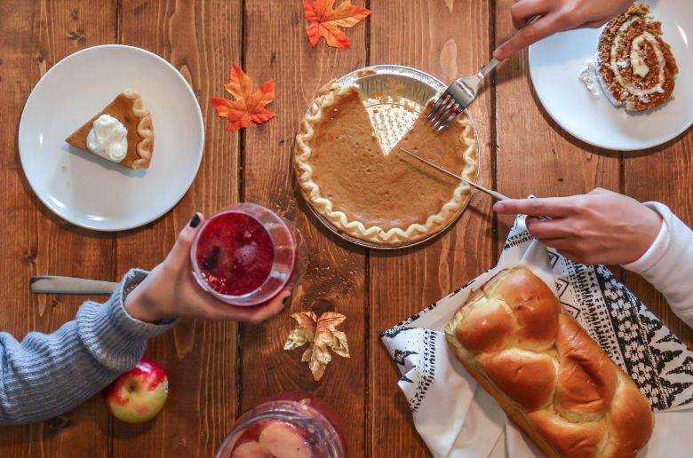 Thanksgiving, Pie, family, together,