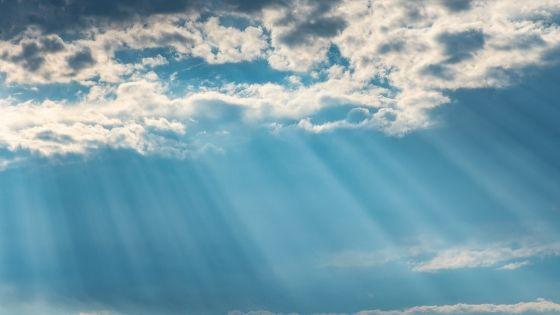 clouds, sun shine,