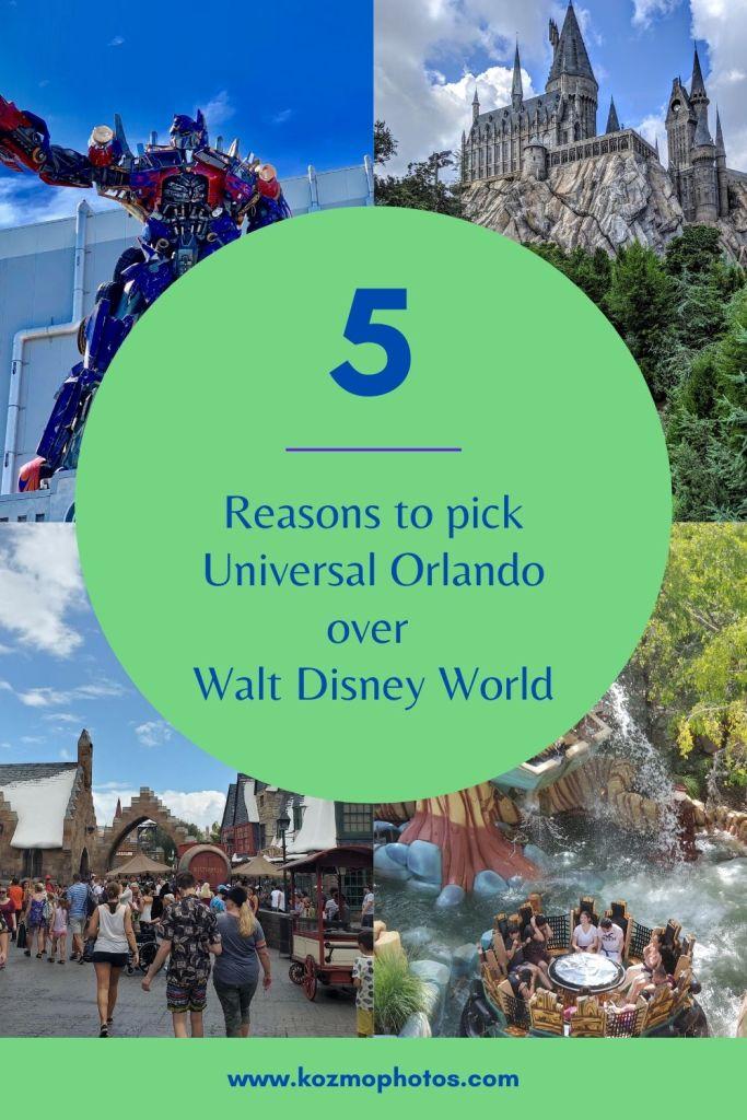 Walt Disney World, Universal Orlando, Theme Park, Orlando, VS, family friendly, Fun,