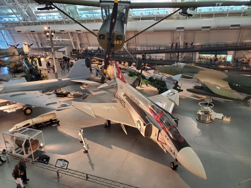 Smithsonian, Museum, Air and Space, Steven F. Udvar-Hazy Center, Washington DC, Fairfax County, VA, Fighter Jet, Missile,