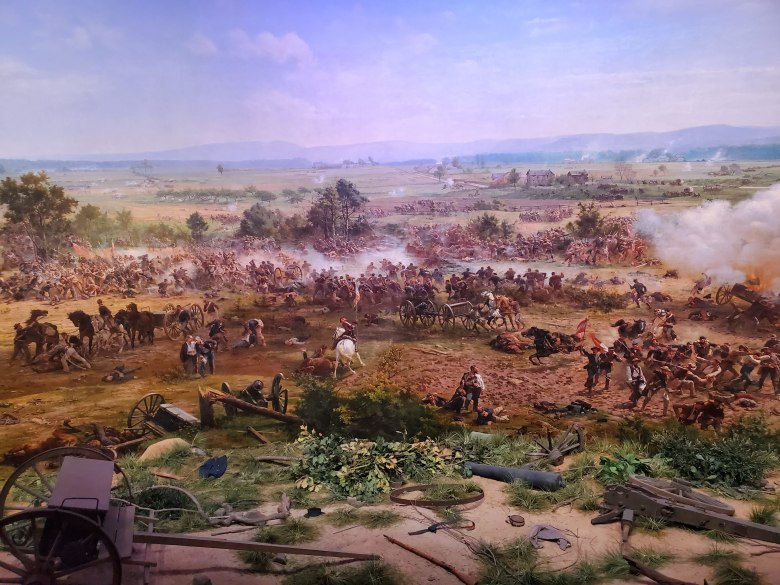Cyclorama, Gettysburg, Picket's Charge, Gettysburg National Military Park, Visitor Center, Museum, PA, Civil War, Union, Confederate, vacation, road trip,