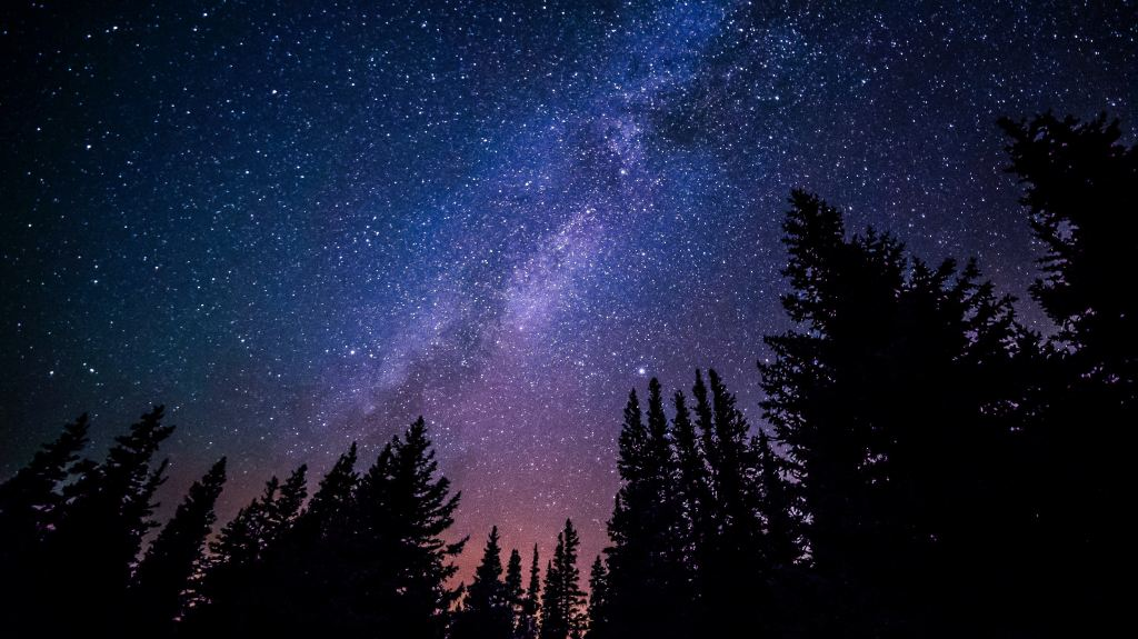 Night sky, Milky way Galaxy, Dark Sky, Cherry Springs State Park,