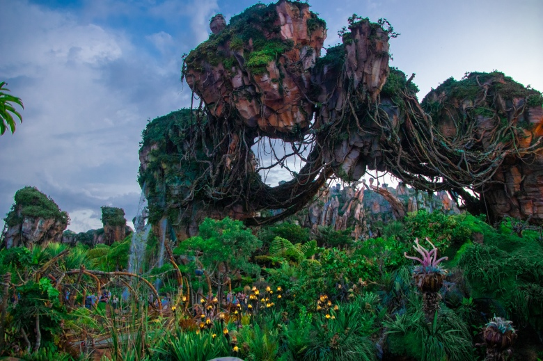 Floating Mountains of Pandora at Animal Kingdom at Dusk