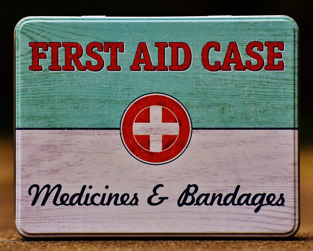 first aid kit, bandages, medicines, social distancing, healthy, travel,