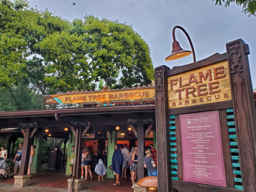 Disney Dining Plan, DDP, WDW, Walt Disney World, quick service, restautants, Animal Kingdom, Flame Tree Barbecue, bbq,