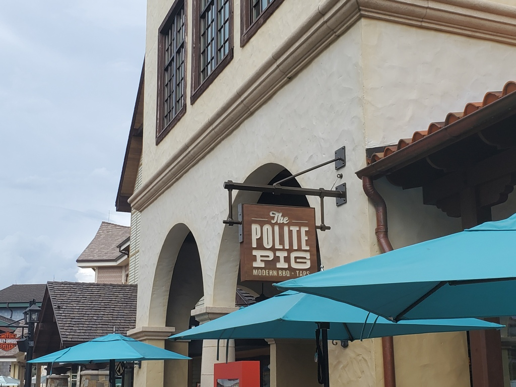 Disney Dining Plan, DDP, WDW, Walt Disney World, quick service, restautants, Disney Springs, Polite Pig, BBQ
