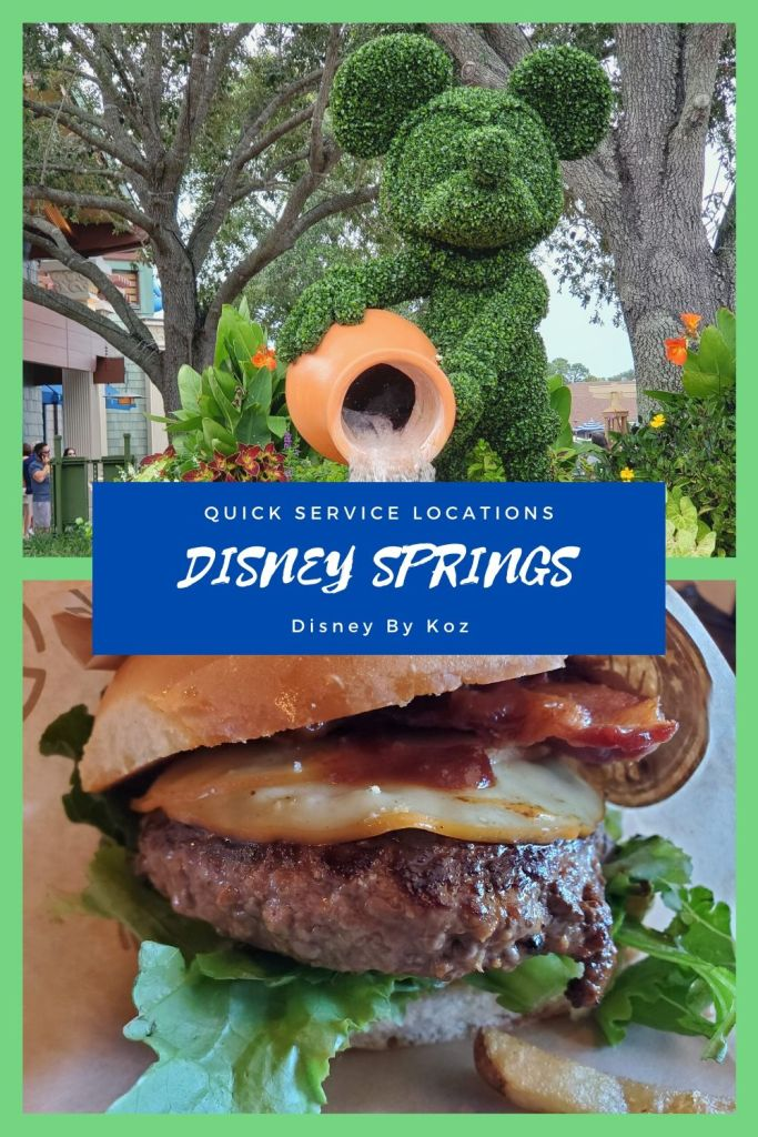 Disney springs, quick service, walt disney world, WDW,