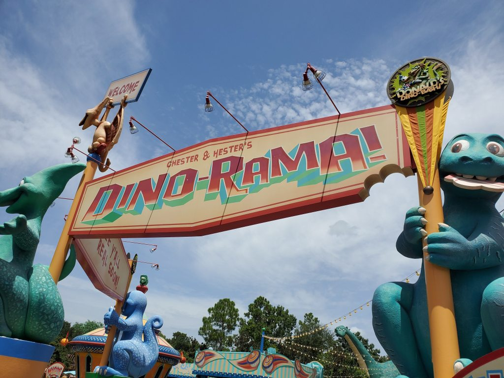 Dino-Rama sign at Animal Kingdom's DinoLand USA