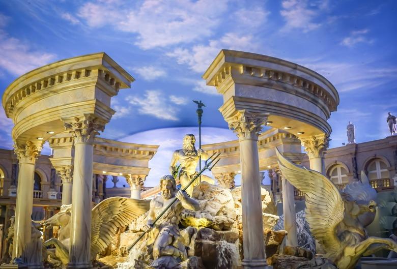 Inside Caesars Palace in Las Vegas
