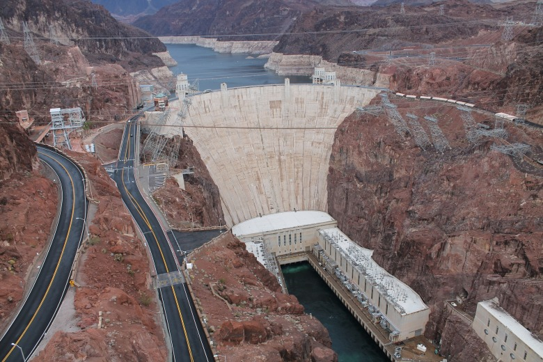 High view of the Hoover Dam