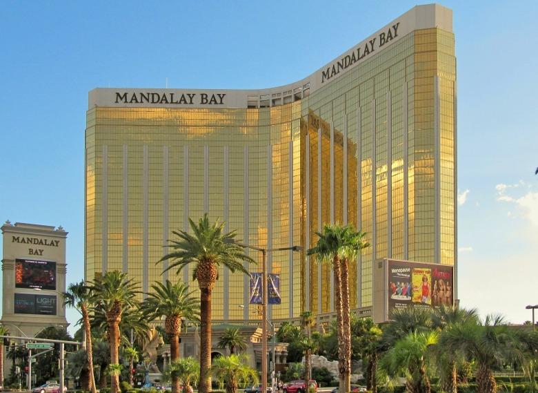 view of Mandalay Bay, Las Vegas Strip, Casino Resort in Nevada,