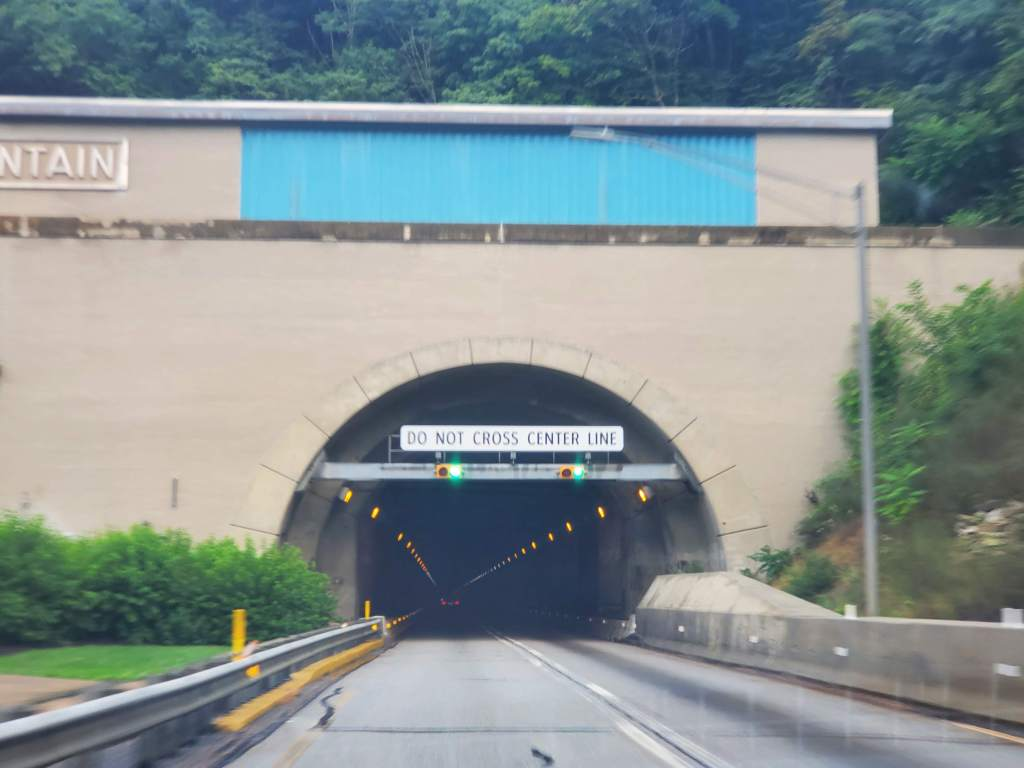 PA Turnpike, Highway, Road trip, Mountain Tunnel,