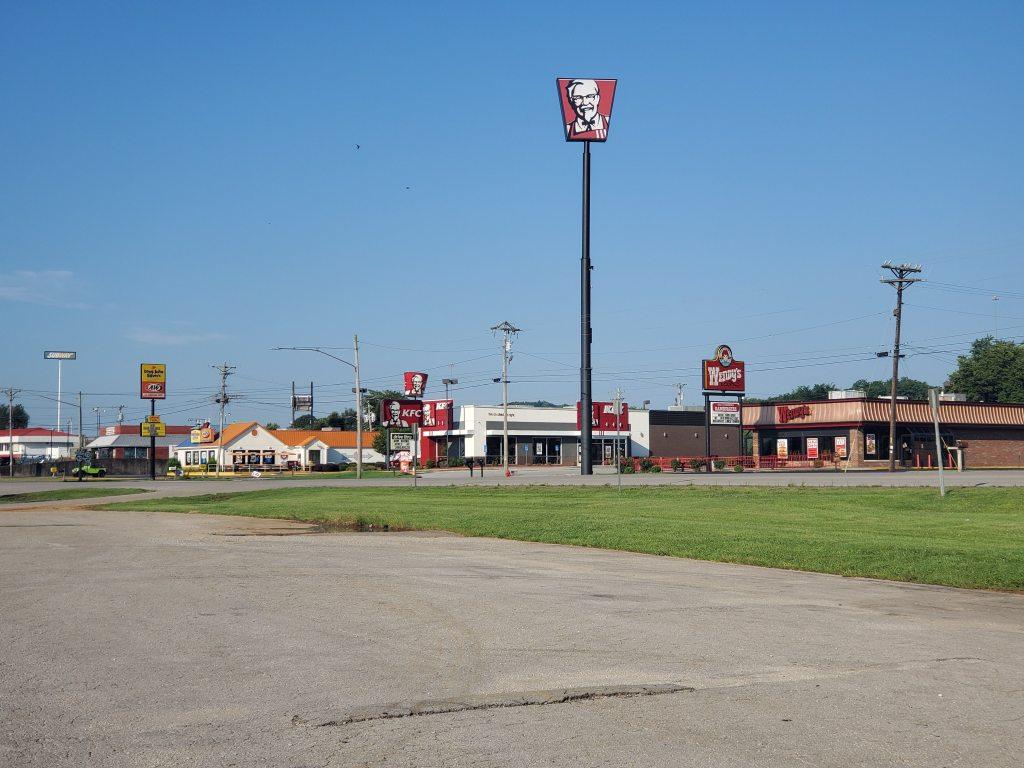 KFC, Wendy's, A&W, Long John Silvers, Fast food, Cave City, Kentucky