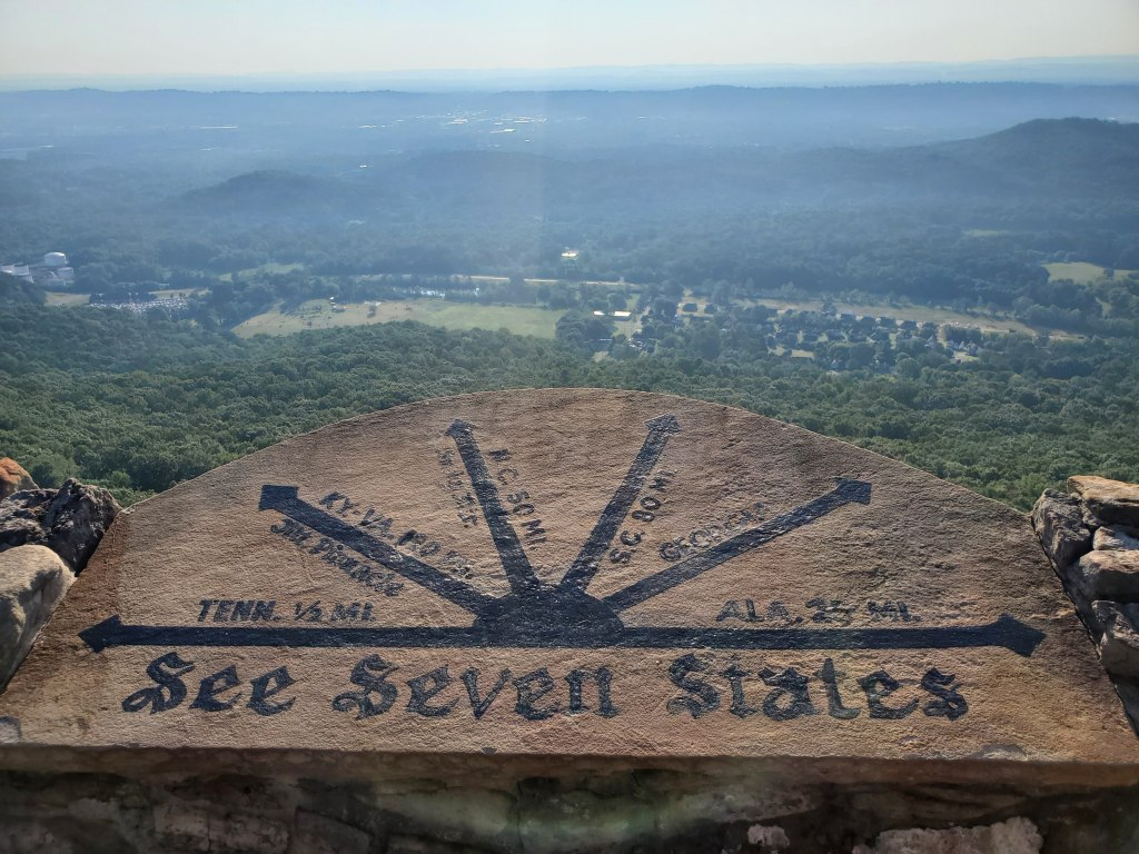 See seven states from lover's leap at Rock City Gardens