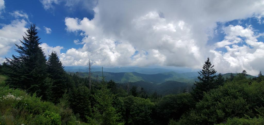 View from clingmans dome parking lot