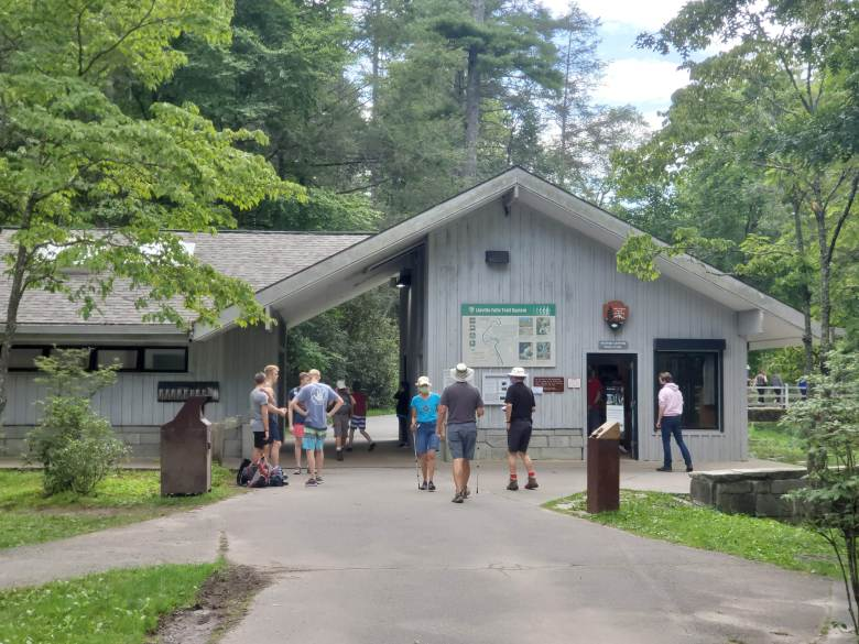 Linville Falls visitor center and is part of the National Parks