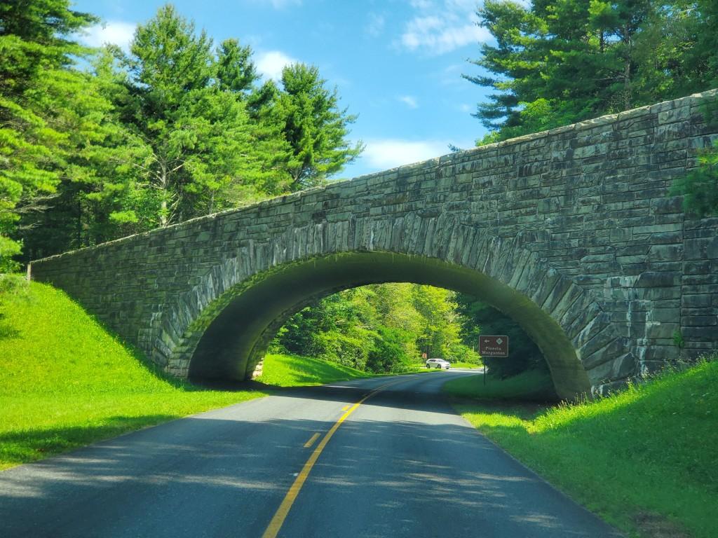 stone bridge on the Blue Ridge Parkway in North Carolina