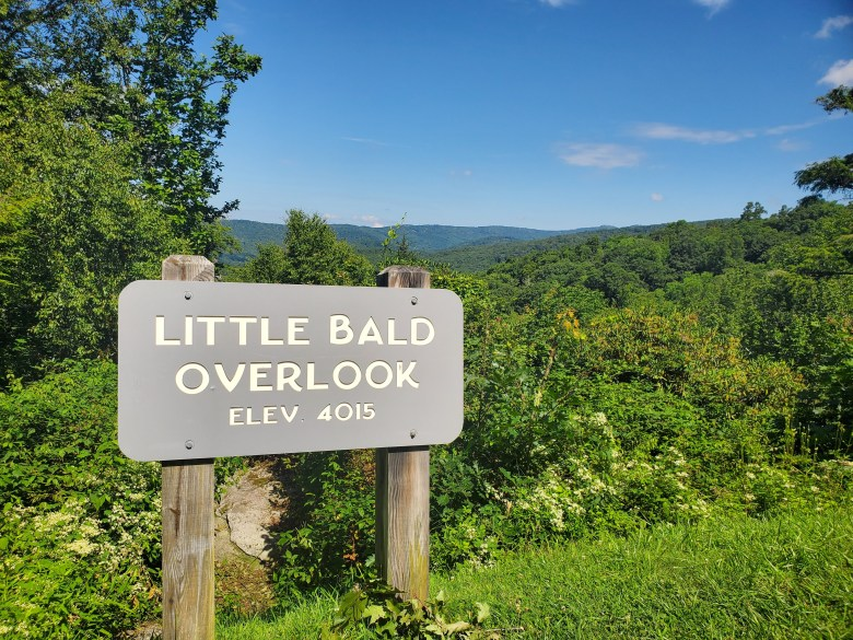 Little Bald Overlook on the Blue Ridge Parkway