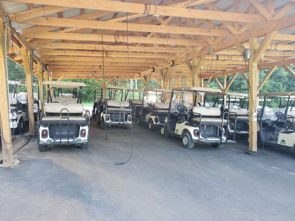 golf carts at Kentucky Down Under