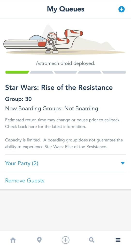 Disney App Star Wars Rise of the Resistance Boarding Group