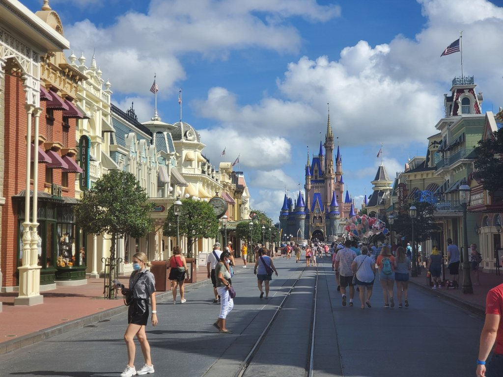 Main Street USA at the Magic Kingdom at Walt Disney World.