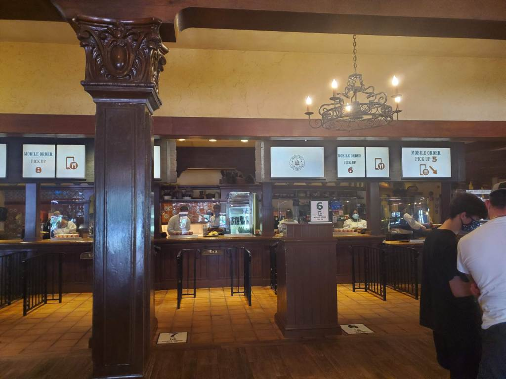 Inside Peco's Bills Tall Tale Inn at teh Mobile Order pick up windows.