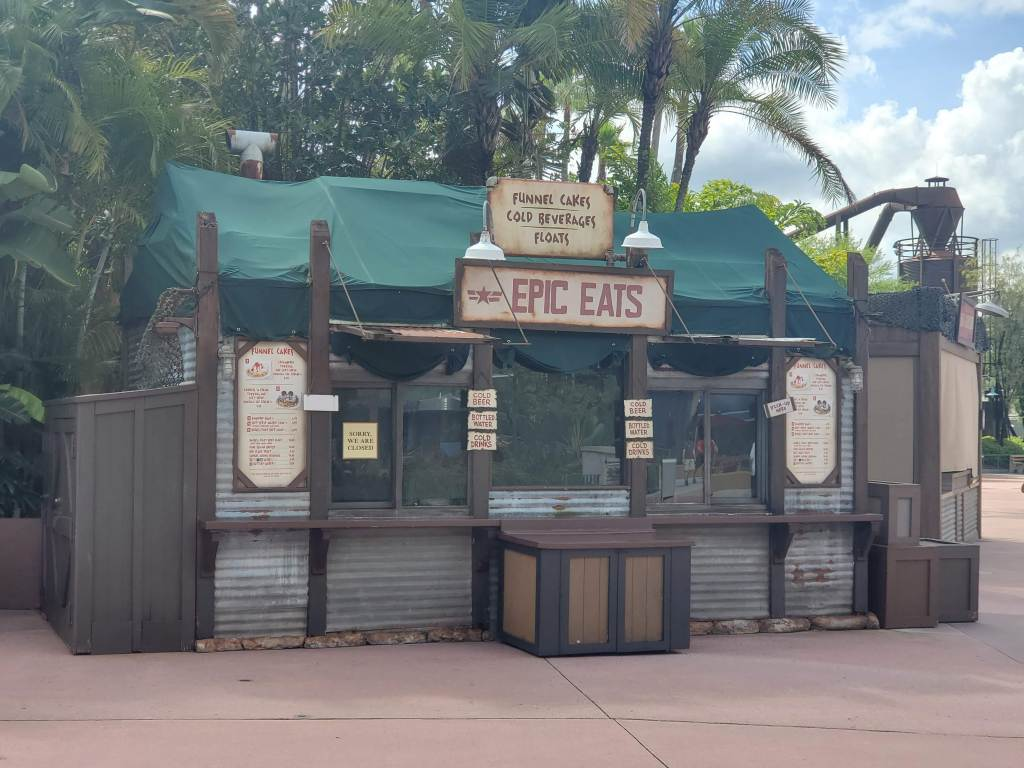 Epic Eats at Disney's Hollywood Studios currently closed due to Covid